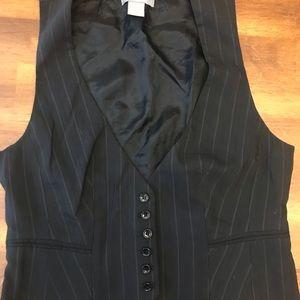 Ann Taylor black pin stripe vest size 6